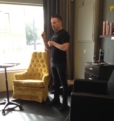 Ron King visiting Educe Salon