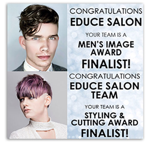 Educe Salon & Phillip Rosado are finalists for the L'ORÉAL PROFESSIONNEL 2017 Color and Style Awards