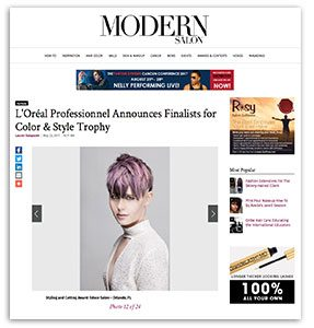 Educe Salon's Phillip Rosado is a 2017 L'Oréal Professionnel Finalists for Color & Style Trophy Award