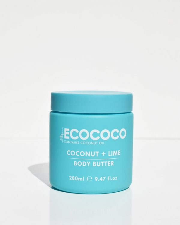 Coconut & Lime Body Moisturising Butter Ecococo_front