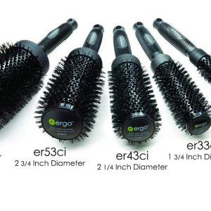 Ionic Ceramic Round Brushes ERGO Styling Tools All Size