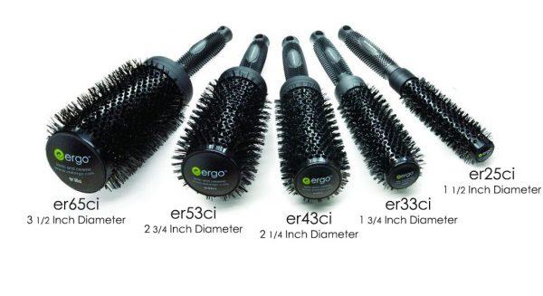 Ionic Ceramic Round Brushes ERGO Styling Tools All Size