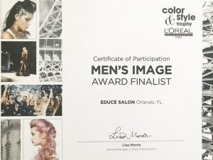 Educe Salon mens image finalist